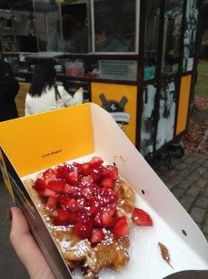 Waffle from Wafels and Dinges, a new food truck in NYC--it had cookie butter on it, I was in heaven.