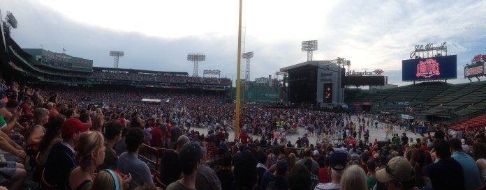 Pre-Foo Fighters Fenway Park, as the Boston thunderclouds start rolling in