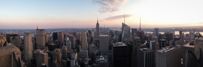NYC from the Top of the Rock at sunset.