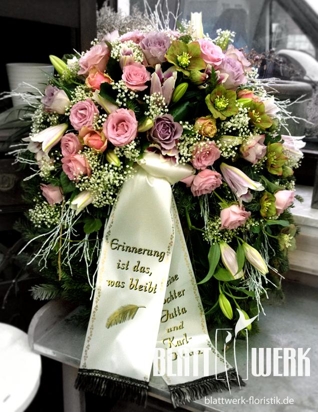 Blattwerk Floristik Blumen und Dekoration Berlingerode Eichsfeld  Trauerfloristik