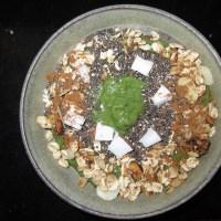 Grüner Kokossmoothie