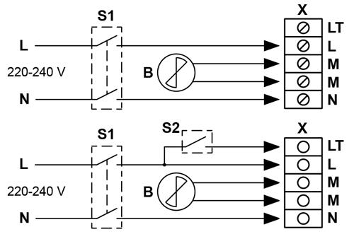Control units for domestic fan BLAUBERG MCD 60/0.3
