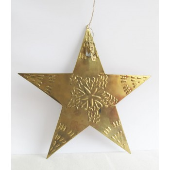 Estrella latón 30 cm