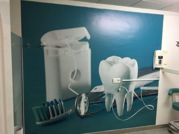 mural de pared para dentistas