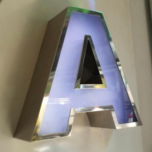 letras modernas en relieve