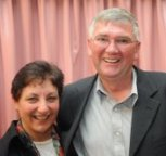 Rhonda and Kevin Butler, after addressing Rotary International