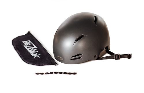 All you need to connect Blazeblok to a bicycle helmet