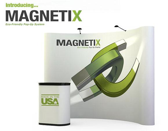 Blazer Exhibits & Events magnetix 10x10 green exhibiting system by Abex