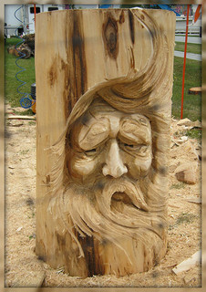 Chainsaw art was one of the draws of the expo.