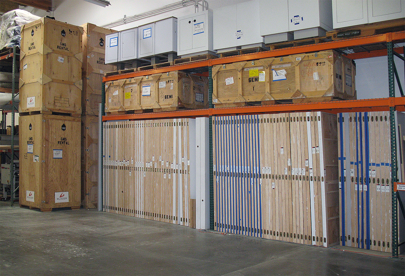 Blazer Exhibits Storage