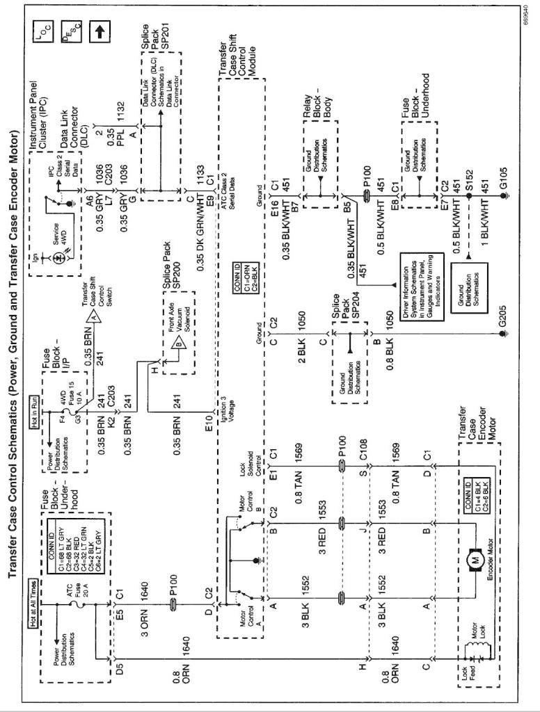 Transfer Case Wiring Diagram For 2001 Chevy Blazer