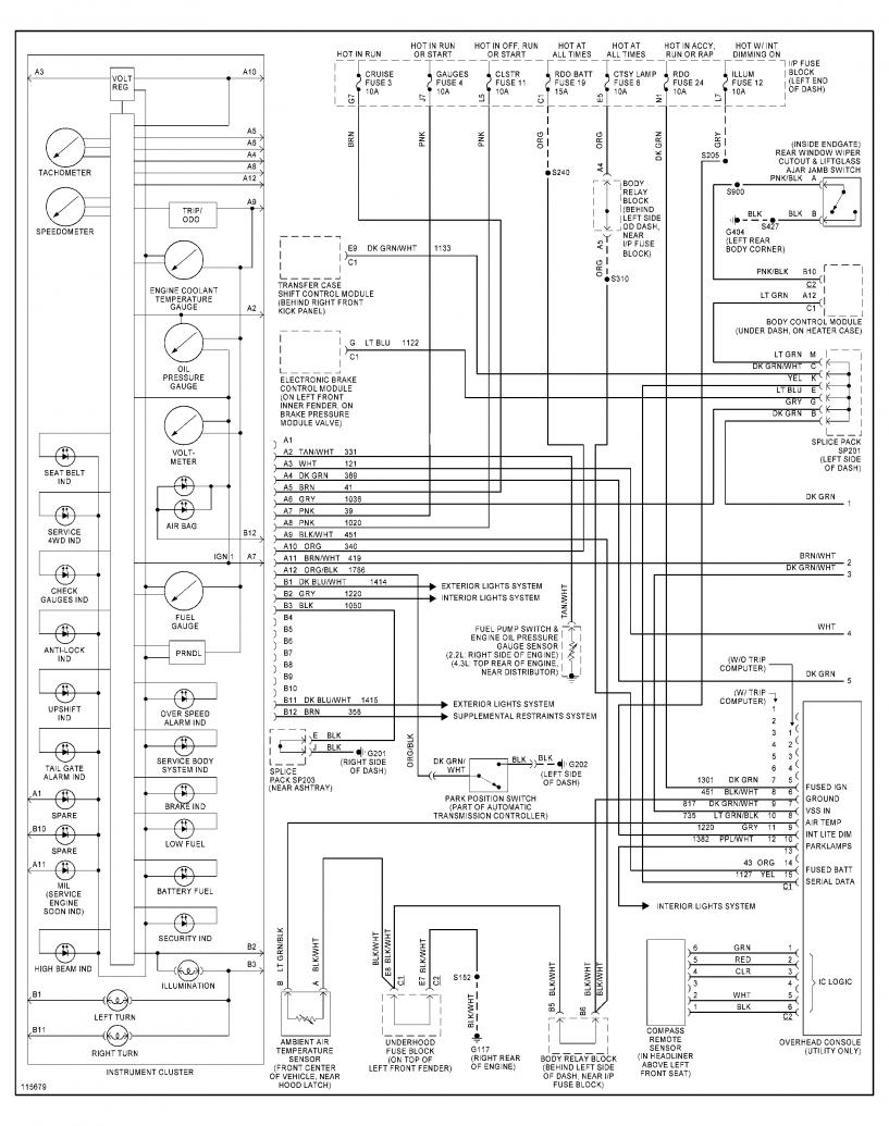 [WRG-4274] 85 Blazer Instrument Cluster Wire Diagram