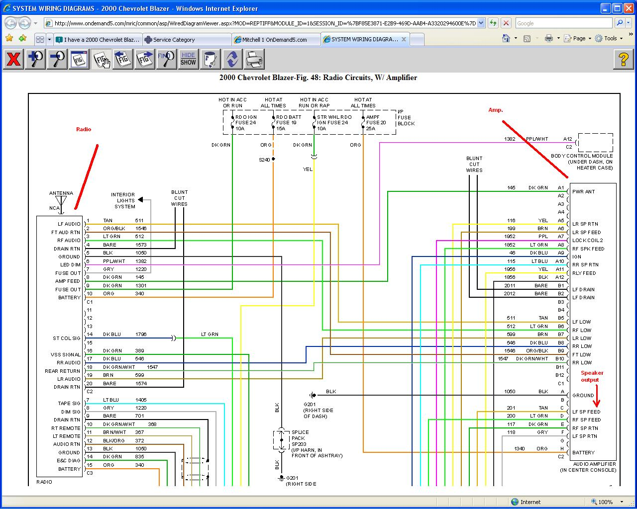 2001 s10 stereo wiring diagram fluorescent dimming ballast no sound out of speakers factory bose blazer forum