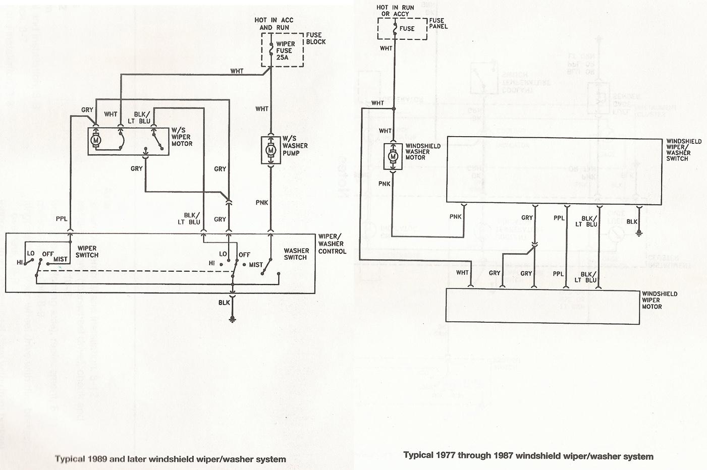 s10 wiper motor wiring diagram tail light 88 k5 blazer circuit and hub