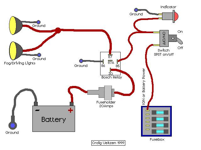 Wiring Diagram For A Relay For Fog LightsWiring Diagram