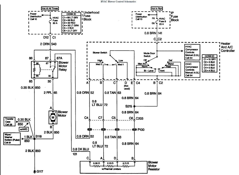 99 chevy blazer ac wiring diagram