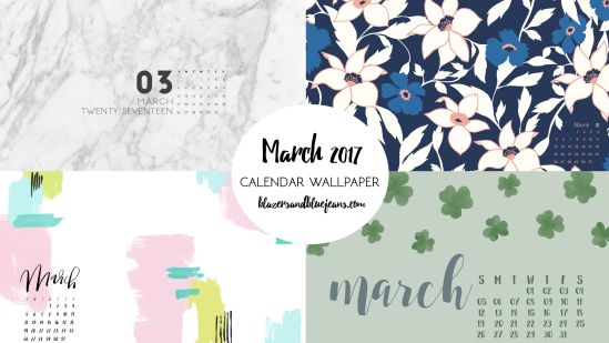 March 2017 Calendar Wallpaper Blazers And Blue Jeans