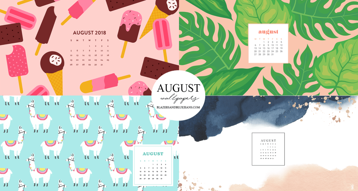August 2018 Calendar Wallpapers