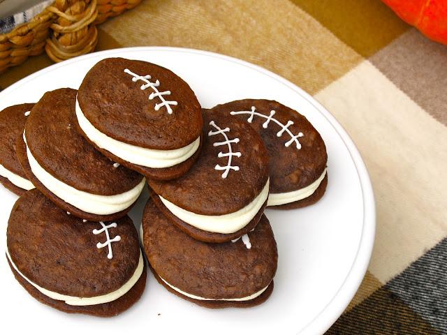 football woopie pie dessert