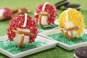 superbowl football helmet dessert