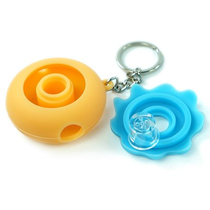 Doughnut Herb Pipe Keychain with Bowl