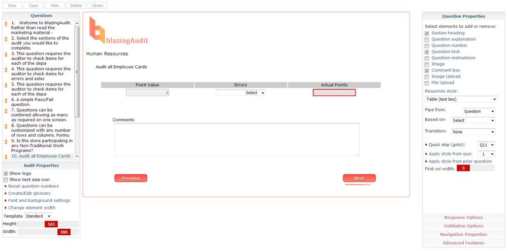 blazingAudit retail store audit software