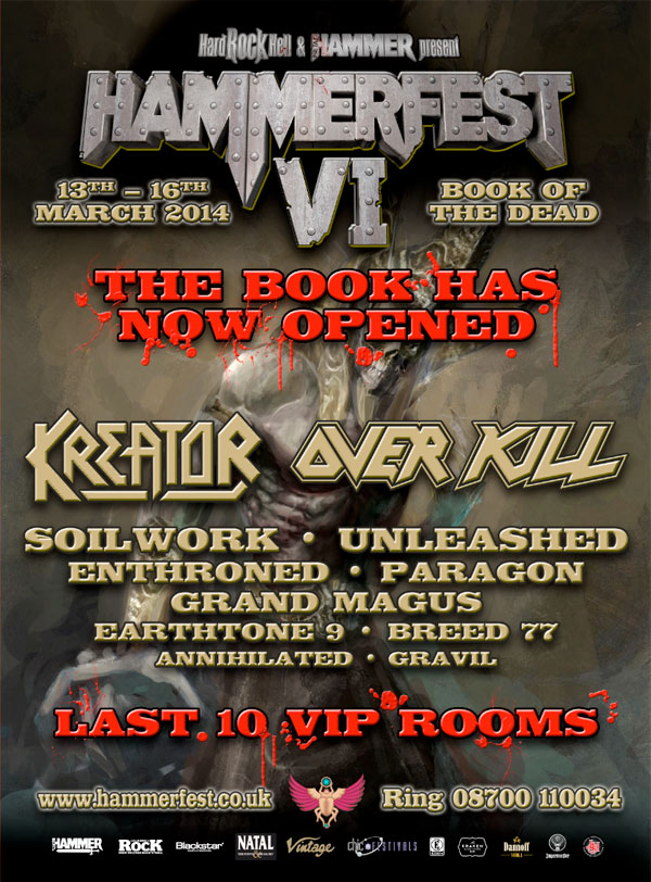 Hammerfest 6 – Book of the Dead – Line Up Announcement for 2014