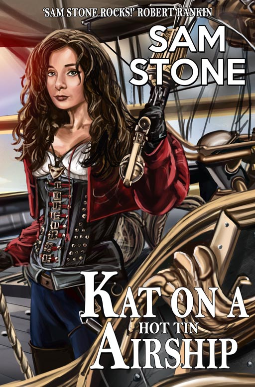 Kat on a Hot Tin Airship Cover  (Sam Stone)