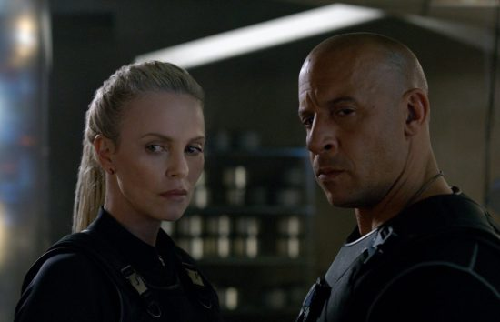 Charlize Theron and Vin Diesel in The Fast of the Furious 8 (2017)