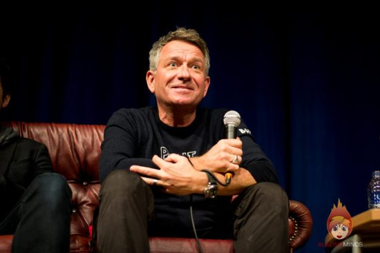 Sean Pertwee at the DC Q&A, Wales Comic Con 2017 (photo Karen Woodham/Blazing Minds)
