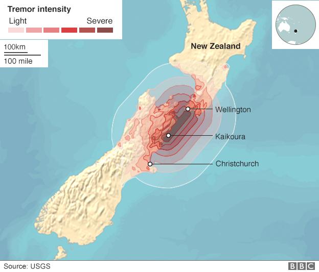New Zealand earthquake: 100,000 landslides amid aftershocks