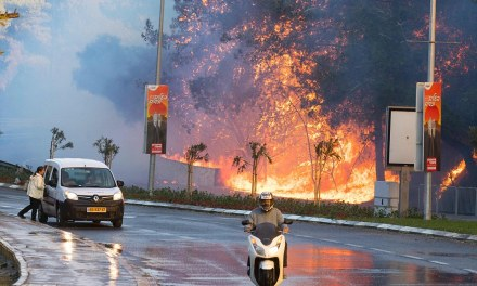 Israel burns: Tens of thousands flee the city of Haifa