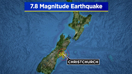 New Zealand: 7.8-magnitude quake rocks south, triggers tsunami