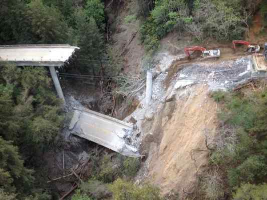 Bridge closure leaves California's Big Sur community reeling