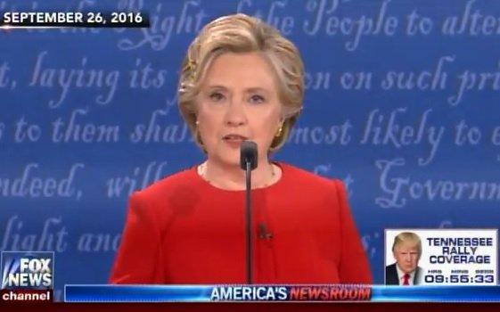 Flashback: Hillary Clinton Lies about Trump's Tax Returns at First Debate (Video)