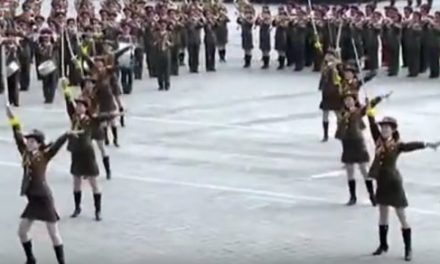 Female Sword Dancers Perform in Weird Display at North Korea's Day of the Sun Parade (Video)