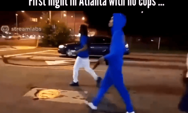 Atlanta with no police = gunfire at will. Georgian patriots, protect & defend yourselves!