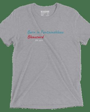 "T-shirt ""Born in Fontainebleau"" gris"