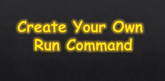 create own run command