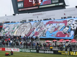 Impressive tifo by the C38 supporters