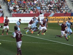 Game action against Sporting KC