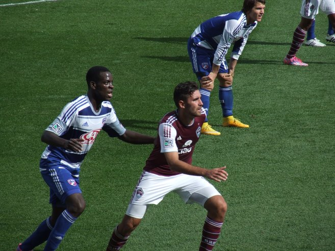 Game action against FC Dallas