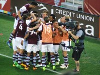 6/18/16 - Rapids celebrate Kevin Doyle's goal in the first half against the Chicago Fire.