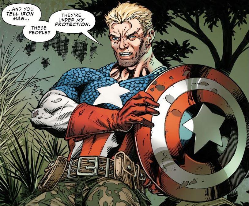marvel turns captain america