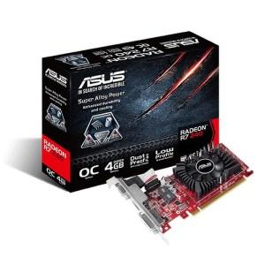 ASUS Radeon R7 240 Low Profile 4GB GDDR3 Graphics Card (R7240-OC-4GD3-L)