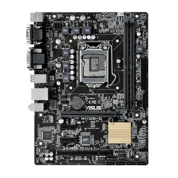 ASUS H110M-C LGA 1151 Intel H110 DDR4 Micro ATX Motherboard (90MB0NY0-M0EAY0)