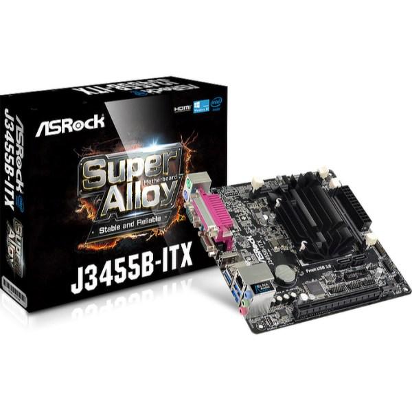 ASRock J3455B-ITX Integrated CPU Intel J3455B DDR3,DDR3L Mini ITX Motherboard (J3455B-ITX)