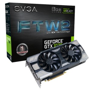 EVGA GeForce GTX 1070 FTW2 Gaming iCX 8GB GDDR5 Graphics Card (08G-P4-6676-KR)