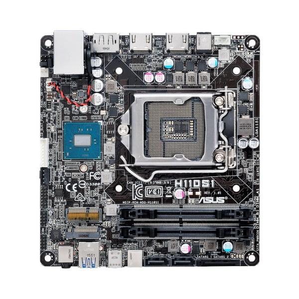 ASUS H110S1/CSM LGA 1151 Intel H110 DDR4 Mini STX Motherboard (90MB0R50-M0EAYC)
