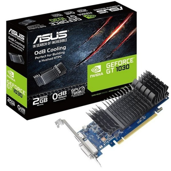 ASUS GeForce GT 710 Low Profile Silent 2GB GDDR5 Graphics Card (90YV0AL1-M0NA00)